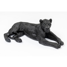 Kare Design Deko Figur Lion Schwarz
