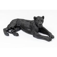 Kare Design Deko Figur Lion Schwarz Dekofigur