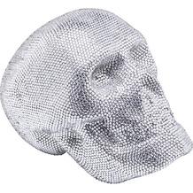 Kare Design Deko Kopf Crystal Skull Silber Small Dekoobjekt