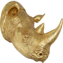 Kare Design Deko Kopf Rhino Gold 107 Wandobjekt