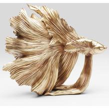 Kare Design Deko Objekt Betta Fish Gold Klein