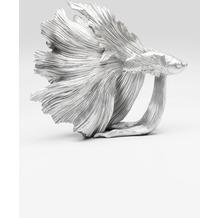 Kare Design Deko Objekt Betta Fish Silber Klein