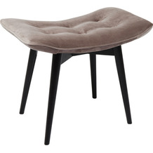 Kare Design Hocker Black Vicky Velvet grau