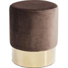 Kare Design Hocker Cherry Braun Brass  Ø35cm