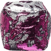 Kare Design Hocker Disco Queen Pink/Silber