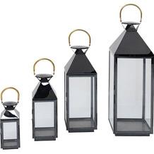Kare Design Lantern Giardino Black Gold (4er Set)