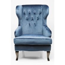 Kare Design Ohrensessel Vintage Blau