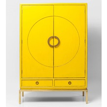 Kare Design Schrank Disk Yellow
