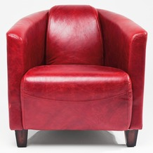 Kare Design Sessel Cigar Lounge Red