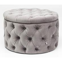 Kare Design Sitztruhe Desire Rund Silbergrau