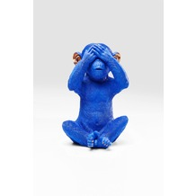 Kare Design Spardose Monkey Mizaru Blau