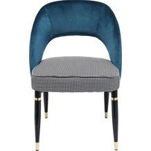 Kare Design Stuhl Samantha Petrol