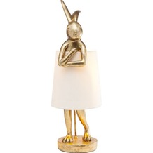 Kare Design Tischleuchte Animal Rabbit gold