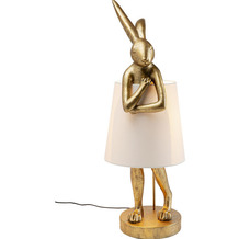 Kare Design Tischleuchte Animal Rabbit Gold 88