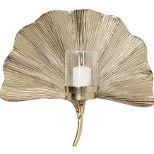 Kare Design Wandkerzenhalter Ginkgo Leaf 45cm Kerzenhalter