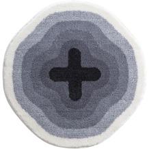 GRUND Badteppich KARIM RASHID Concept 03 096 grau 90 cm rund