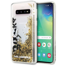 Karl Lagerfeld - Glitter Floatting Hülle- Samsung Galaxy S10 - Transparent