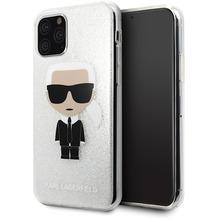 Karl Lagerfeld Iconic Glitter Case - Apple iPhone 11 - Silber - Hard Cover - Schutzhülle