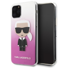 Karl Lagerfeld Iconic Gradient Case - Apple iPhone 11 Pro Max - Pink - Hard Cover - Schutzhüllen