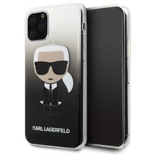 Karl Lagerfeld Iconic Gradient Case - Apple iPhone 11 Pro - Schwarz - Hard Cover - Schutzhüllen