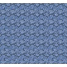 Karl Lagerfeld Wallpaper Vliestapete Fan blau metallic schwarz 378474 10,05 m x 0,53 m