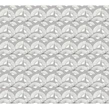 Karl Lagerfeld Wallpaper Vliestapete Fan grau metallic weiß 378471 10,05 m x 0,53 m