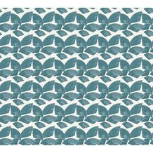 Karl Lagerfeld Wallpaper Vliestapete Fan grün metallic weiß 378472 10,05 m x 0,53 m