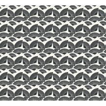 Karl Lagerfeld Wallpaper Vliestapete Fan metallic schwarz weiß 378473 10,05 m x 0,53 m