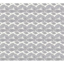 Karl Lagerfeld Wallpaper Vliestapete Fan metallic schwarz weiß 378476 10,05 m x 0,53 m