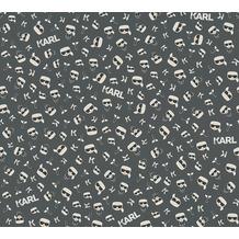 Karl Lagerfeld Wallpaper Vliestapete Ikonik schwarz weiß 378437 10,05 m x 0,53 m