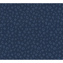 Karl Lagerfeld Wallpaper Vliestapete Leopard blau metallic 378566 10,05 m x 0,53 m