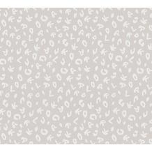 Karl Lagerfeld Wallpaper Vliestapete Leopard grau metallic 378563 10,05 m x 0,53 m