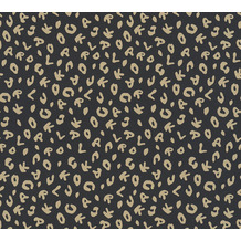 Karl Lagerfeld Wallpaper Vliestapete Leopard metallic schwarz 378564 10,05 m x 0,53 m