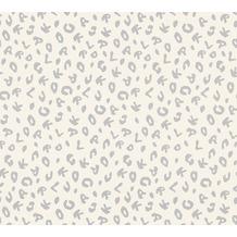 Karl Lagerfeld Wallpaper Vliestapete Leopard metallic weiß 378561 10,05 m x 0,53 m