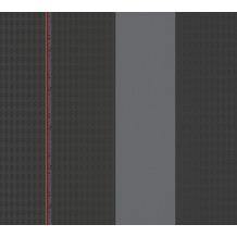 Karl Lagerfeld Wallpaper Vliestapete Ribbon grau rot schwarz 378481 10,05 m x 0,53 m