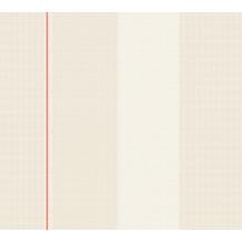 Karl Lagerfeld Wallpaper Vliestapete Ribbon grau rot weiß 378483 10,05 m x 0,53 m