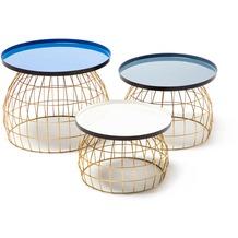 Kayoom Beistelltisch-Set Laudatio 160 Blau / Grau / Weiß
