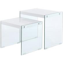 Kayoom Beistelltisch 2er-Set Elementary 125 glänzend Weiß