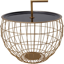 Kayoom Beistelltisch Art Deco 535 Schwarz