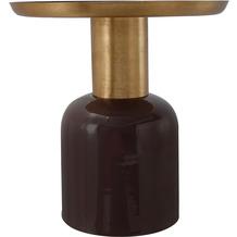 Kayoom Beistelltisch Art Deco 825 Dunkellila / Gold