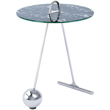 Kayoom Beistelltisch Pendulum 525 Silber / Schwarz