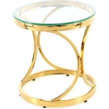 Kayoom Beistelltisch Weyda 125 Klar / Gold