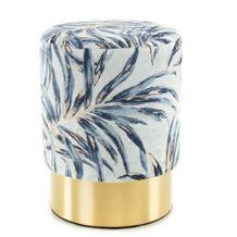 Kayoom Hocker Gipsy 225 Blau / Gold