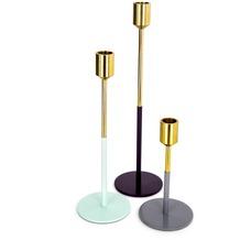 Kayoom Kerzenhalter 3er Set Saga 150 Gold / Mint / Pflaume / Grau