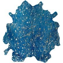 Kayoom Teppich Glam 410 Blau / Gold 1,35qm - 1,65qm