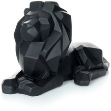 Kayoom Skulptur Lion 110 Schwarz