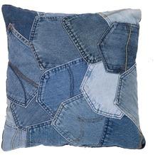Kayoom Kissen Denim Pillow 220 Jeansblau 45 x 45 cm