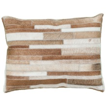 Kayoom Lederkissen Lavish Pillow 110 Creme 40 x 60 cm