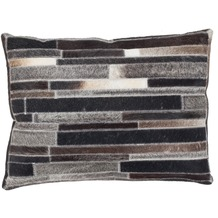 Kayoom Lederkissen Lavish Pillow 110 Grau-Braun 40 x 60 cm