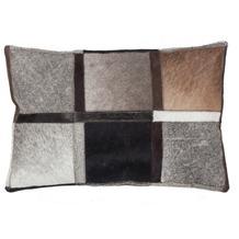 Kayoom Lederkissen Lavish Pillow 410 Grau 40 x 60 cm
